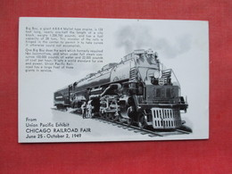 Union Pacific Exhibit Chicago Railroad Fair  June 25 - Oct 2  1949    Ref 3336 - Exhibitions