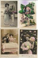 LOT DE 100 CARTES FANTAISIES -Petits Formats - Toutes Les Cartes Sont Scannées - Cartes Postales