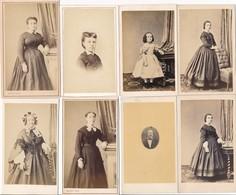 LOT De 8 CDV Photo Femme Mode Robe Enfant   Photographe GUIPET  5 Rue Vaillant Cour Saint Vincent à Dijon 21 - Photos