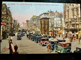 CARTE POSTALE _ CPA VINTAGE : PARIS 10 _ AUTOMOBILES _ Porte Saint Martin & Saint Denis      // CPA.L.PARIS133.17 - Arrondissement: 10