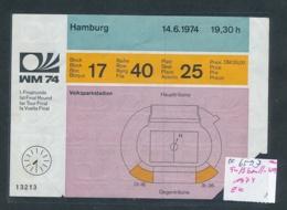 Fußball WM 1974 Eintrits Karte ...    (oo6593  ) Siehe Scan - Eintrittskarten
