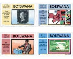 Ref. 137636 * MNH * - BOTSWANA. 1990. VARIOUS ANNIVERSARIES . ANIVERSARIOS VARIOS - Stamps On Stamps