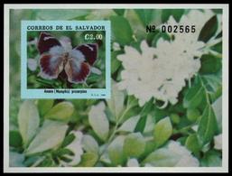 El Salvador 1990 - Mi-Nr. Block 46 ** - MNH - Schmetterlinge / Butterflies - El Salvador