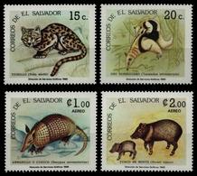 El Salvador 1986 - Mi-Nr. 1604-1607 ** - MNH - Wildtiere / Wild Animals - El Salvador
