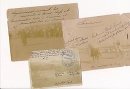 à Identifier Lot De 3 Photos Photo Militaire MAROC 1912 1914 Légionnaire Ornant Les Cercueils Le Cercle De La Moulouya - Guerre, Militaire