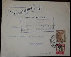 O) 1932 COLOMBIA, COFFEE CULTIVATION, BANANAS, SUSCRIBASE AL EMPRESTITO PATRIOTICO ES DEBER DE TODO COLOMBIANO, FROM ALF - Colombia