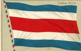 COSTA RICA(DRAPEAU) CARTE GAUFREE - Costa Rica
