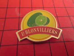 SP15b Pin's Pins / Rare Et Belle Qualité / THEME ALIMENTATION : SUCRE Du Bon Susucre !!!! LE BLONVILLIERS FRUIT KIWI - Alimentation
