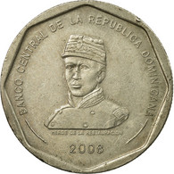 Monnaie, Dominican Republic, 25 Pesos, 2008, TTB, Copper-nickel, KM:107 - Dominicaine