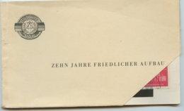 1959 ZEHN JAHRE FRIEDLICHER AUFBAU,Kartenheft Mit 12 Postkarten, 1.Karte Abgetrennt - Non Classés