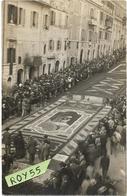 Lazio-roma-genzano Di Roma Veduta Infiorata Animatissima Anni 30 ( Cartolina Postale/f.piccolo/ Tipo Foto/vedi Retro) - Altre Città