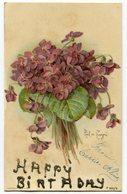 CPA - Carte Postale - Fantaisie - Fleurs - Lilas - Happy Birthday (M8483) - Fleurs