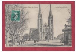 FRANCE -- GARD -- NIMES-- PLACE DES CARMES -- EGLISE STE BAUDILE-- CP 1909-- - Nîmes
