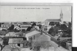 SAINT MICHEL EN L HERM N 763   VUE GENERALE   Petit Pli Centre      DEPT 85 - Saint Michel En L'Herm