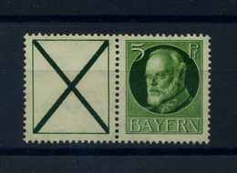 BAYERN 1915 ZD Nr W5 Postfrisch (107112) - Bayern