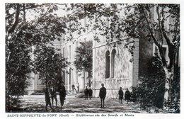 Cpa(30)--saint-hippolyte-du-fort -- Etablissements Des Sourds Et Muets.   (sèpia) - France