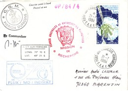 TAAF - LOT DE 26 LETTRES - DIVERSES CACHETS D'EXPEDITIONS - DIVERS CACHETS DE BATEAU - QUELQUES SIGNATURE DE CAPITAINE - - Collections, Lots & Series