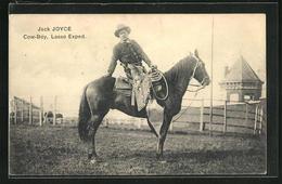 AK Cowboy Jack Joyce Mit Lasso Auf Seinem Pferd - Indianer