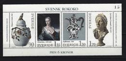 SCHWEDEN - Block Mi-Nr. 7 Schwedisches Rokoko Postfrisch - Blocks & Kleinbögen