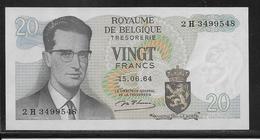 Belgique - 20 Francs  - Pick N° 138 - SPL - [ 2] 1831-... : Royaume De Belgique