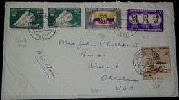 O) 1961 COLOMBIA, FLEEING FAMILY AND UPROOTED OAK EMBLEM - SCT C371 - WORLD REFUGEE, JOAQUIN CAMACHO - JORGE TADEO LOZAN - Colombia