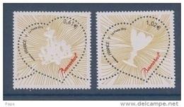 2014-N°4832/4833** -SAINT VALENTIN COEURS BACCARAT - Unused Stamps