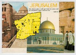 VEDUTE   DI   GERUSALEMME          (VIAGGIATA) - Israele