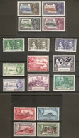 GIBRALTAR 1935 - 1950 COMMEMORATIVE SETS INCLUDING 1935 SILVER JUBILEE AND 1949 UPU MOUNTED MINT Cat £47+ - Gibraltar