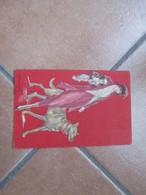 Donna Cappello Cane Cagnolino Vestito Rosso Illustratore BOMPARD - Moda
