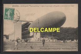 "DD / AVIATION / DIRIGEABLES / EPINAL (88) / LE DIRIGEABLE "" CAPITAINE FERBER "" VA ENTRER DANS SON HANGAR / 1912 - Dirigibili"