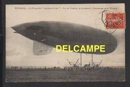 "DD / AVIATION / DIRIGEABLES / EPINAL (88) / LE DIRIGEABLE "" CAPITAINE FERBER "" VU DE L' ARRIÈRE /  1914 - Dirigibili"