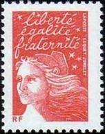 France N° 3417 B ** Marianne Du 14 Juillet - Luquet Le TVP Rouge Sans Bande De Phosphore - France