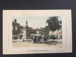 CPA GERS L'ISLE-JOURDAIN PLACE GAMBETTA - Autres Communes