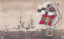 Alte Ansichtskarte Von Der S.M.S. Kaiser Wilhelm II. - Ausrüstung