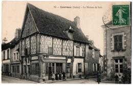 CPA 36 - LEVROUX (Indre) - 15. La Maison De Bois (petite Animation) - France