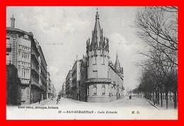 CPA SAN-SEBASTIAN.(Espagne)  Calle Echaide, Animé...D934 - Guipúzcoa (San Sebastián)