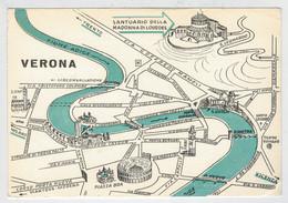 VERONA    COME  GIRARE  PER LA  CITTA  DI  VERONA                 (NUOVA) - Verona