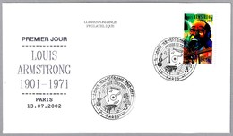 LOUIS ARMSTRONG (1901-1971). SPD/FDC Paris 2002 - Cantantes