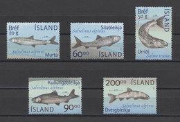 Island Fishes Poissons Peces Fische 2002 Mi#1012-1016 MNH - Pesci