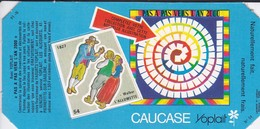 PUBLICITE-YOPLAIT--' Caucase '-pas A Pas Vers L'an 2000-( 1 élément De Puzzle Cartonné)-l'allumette 2 Scans - Reclame
