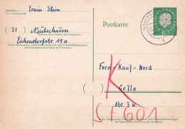 Germany 1959 Neubeckum To Celle10pfg Postal Stationary Postcard - [7] République Fédérale