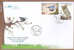 AC - TURKEY FDC - EUROPA ( CEPT ) 2019 NATIONAL BIRDS KRUEPER'S NUTHATCH - PALLID SCOPS OWL ANKARA 09 MAY 2019 - 1921-... Republik