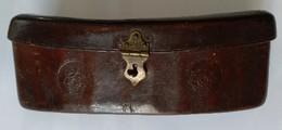 Ancienne Cartouchière En Cuir - Napoléon III - Breveté : S.G.D.G. - - Equipement
