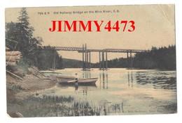 PRIVATE POST CARD - Old Railway Bridge On The Mira River En 1907 - Cape Breton Nouvelle-Ecosse Canada - Cape Breton