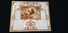 Grand CALENDRIER PTT ALMANACH 1887 Des Postes Et Télégraphes / Illustration ST PAUL SUR LE CHEMIN DE DAMAS Syrie - Calendriers