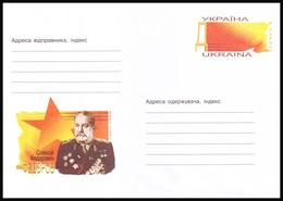 UKRAINE 2001. (1-3079). OLEKSIY FEDOROV, TWICE HERO OF SOVIET UNION. Postal Stationery Stamped Cover (**) - Ukraine