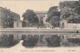 CPA   10 AUBE    TROYES   ACHIVES DEAPRTEMENTALES     ECRITE    615 - Troyes
