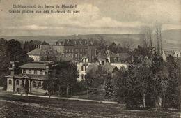 LUXEMBURG - MONDORF-LES-BAINS, Établissement Des Bains, Grande Piscine Vue Des Hauteurs Du Parc - Mondorf-les-Bains
