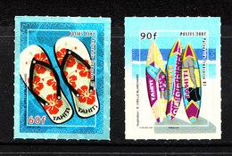 Polinesia  -  2007. Turismo.  Ciabatte E Tavole Surf. Tourism. Slippers And Surf Boards. MNH Self Adhesive - Vacanze & Turismo