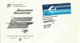 ARGENTINA , SOBRE 25 ANIVERSARIO AEROLINEAS ARGENTINAS - Argentina